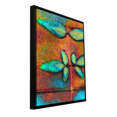 Botanical Edges2 Gallery Wrapped Floater-Framed Canvas Wall Art