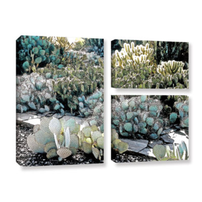 Botanical Garden 3-pc. Flag Gallery Wrapped CanvasWall Art