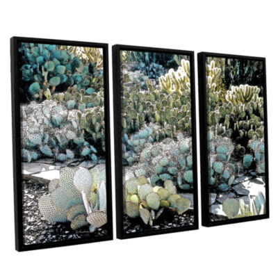 Botanical Garden 3-pc. Floater Framed Canvas WallArt