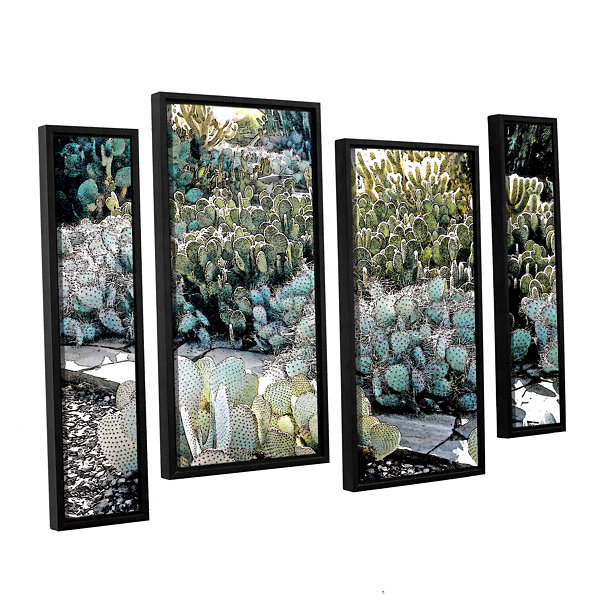 Botanical Garden 4-pc. Floater Framed Staggered Canvas Wall Art