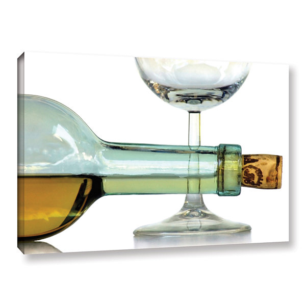 Bottles Plus Glass Gallery Wrapped Canvas Wall Art