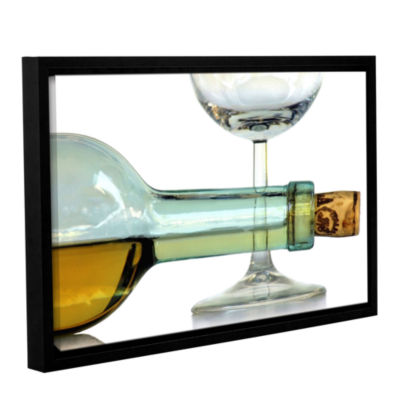 Bottles Plus Glass Gallery Wrapped Floater-FramedCanvas Wall Art
