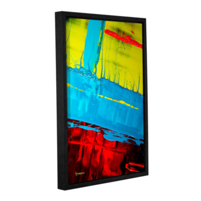 Brushstone Boundaries Gallery Wrapped Floater-Framed Canvas Wall Art