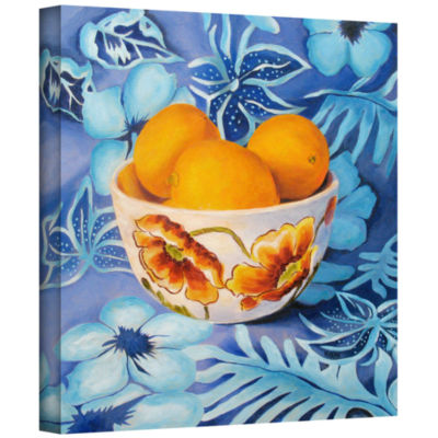 Brushstone Bowl Of Lemons Gallery Wrapped Canvas Wall Art