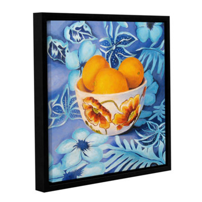 Bowl Of Lemons Gallery Wrapped Floater-Framed Canvas Wall Art