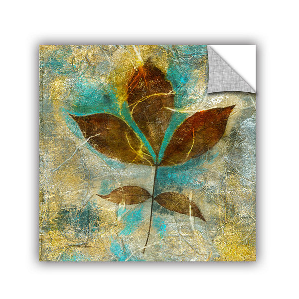 Brushstone Branch With Golden Leaves Removable Wall Decal