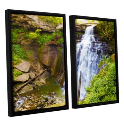 Brushstone Brandywine Falls 2 2-pc. Floater FramedCanvas Wall Art