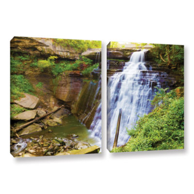Brushstone Brandywine Falls 2 2-pc. Gallery Wrapped Canvas Wall Art