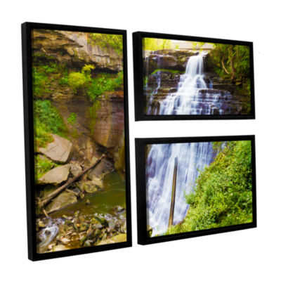Brushstone Brandywine Falls 2 3-pc. Flag Floater Framed Canvas Wall Art