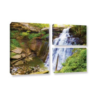 Brushstone Brandywine Falls 2 3-pc. Flag Gallery Wrapped Canvas Wall Art