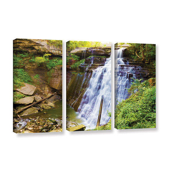 Brushstone Brandywine Falls 2 3-pc. Gallery Wrapped Canvas Wall Art