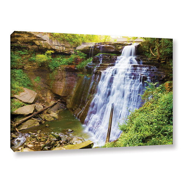 Brushstone Brandywine Falls 2 Gallery Wrapped Canvas Wall Art
