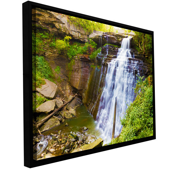 Brushstone Brandywine Falls 2 Gallery Wrapped Floater-Framed Canvas Wall Art