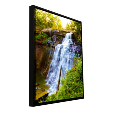 Brushstone Brandywine Falls Gallery Wrapped Floater-Framed Canvas Wall Art