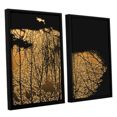 Brushstone Break In The Storm 2-pc. Floater FramedCanvas Wall Art
