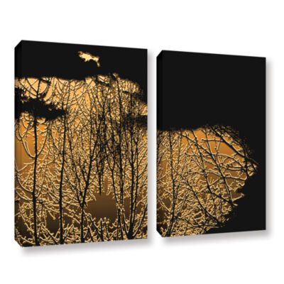 Brushstone Break In The Storm 2-pc. Gallery Wrapped Canvas Wall Art