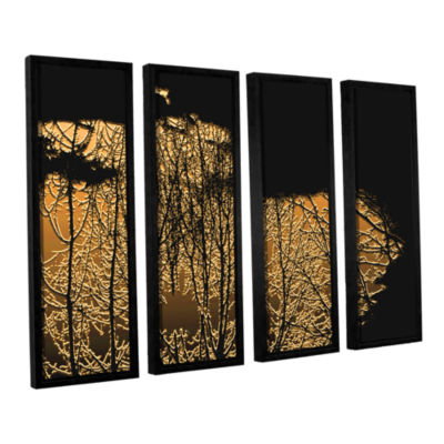 Brushstone Break In The Storm 4-pc. Floater FramedCanvas Wall Art