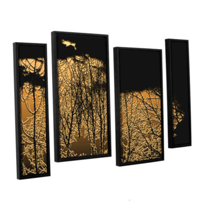 Brushstone Break In The Storm 4-pc. Floater FramedStaggered Canvas Wall Art