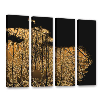 Brushstone Break In The Storm 4-pc. Gallery Wrapped Canvas Wall Art
