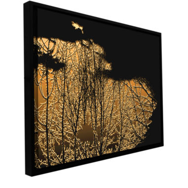 Break In The Storm Gallery Wrapped Floater-FramedCanvas Wall Art