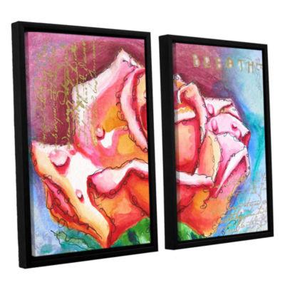 Brushstone Breathe 2-pc. Floater Framed Canvas Wall Art