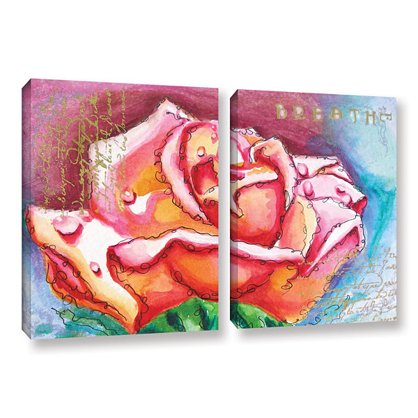 Brushstone Breathe 2-pc. Gallery Wrapped Canvas Wall Art