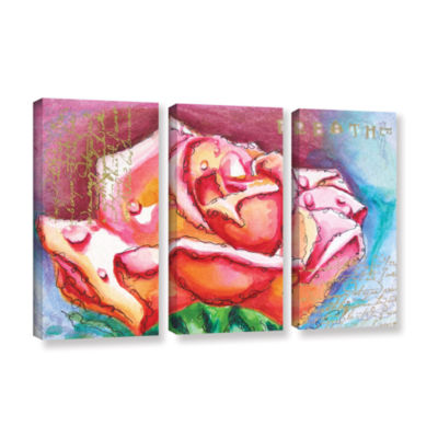 Brushstone Breathe 3-pc. Gallery Wrapped Canvas Wall Art