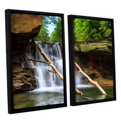 Brushstone Brecksville Falls 2-pc. Floater FramedCanvas Wall Art