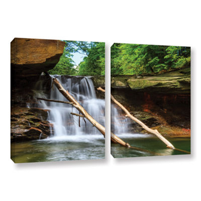 Brecksville Falls 2-pc. Gallery Wrapped Canvas Wall Art