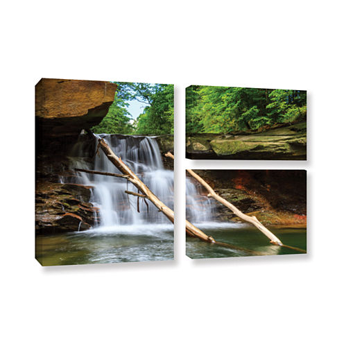 Brecksville Falls 3-pc. Flag Gallery Wrapped Canvas Wall Art