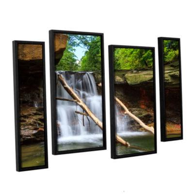 Brushstone Brecksville Falls 4-pc. Floater FramedStaggered Canvas Wall Art