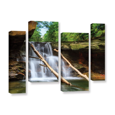 Brushstone Brecksville Falls 4-pc. Gallery WrappedStaggered Canvas Wall Art