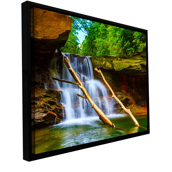 Brecksville Falls Gallery Wrapped Floater-Framed Canvas Wall Art