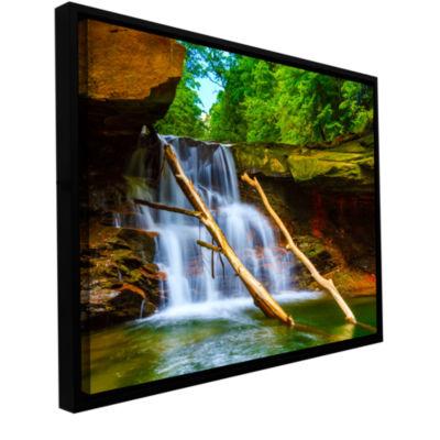 Brushstone Brecksville Falls Gallery Wrapped Floater-Framed Canvas Wall Art