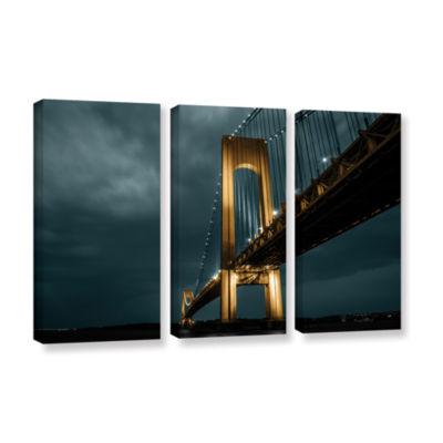 Brushstone Bridge 3-pc. Gallery Wrapped Canvas Wall Art