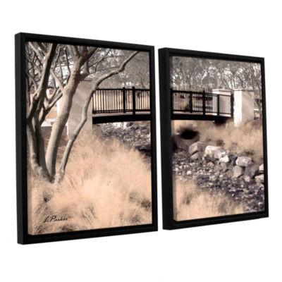 Brushstone Bridge Over Wash 2-pc. Floater Framed Canvas Wall Art