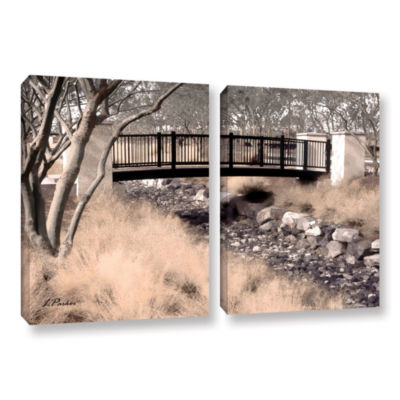 Brushstone Bridge Over Wash 2-pc. Gallery WrappedCanvas Wall Art