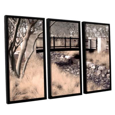 Bridge Over Wash 3-pc. Floater Framed Canvas WallArt