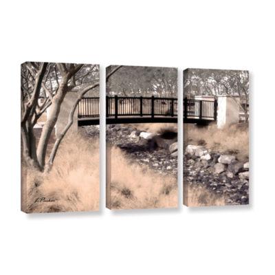 Brushstone Bridge Over Wash 3-pc. Gallery WrappedCanvas Wall Art