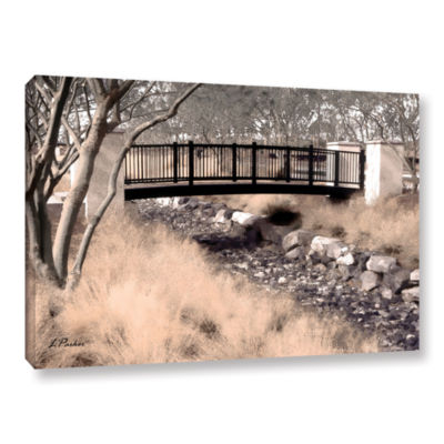 Brushstone Bridge Over Wash Gallery Wrapped CanvasWall Art