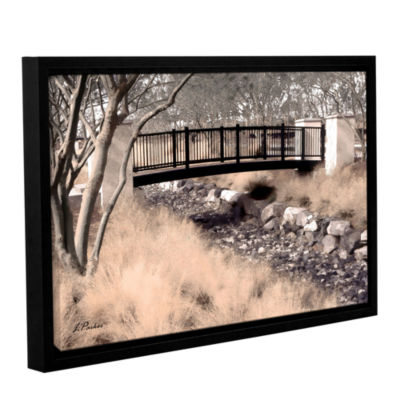 Brushstone Bridge Over Wash Gallery Wrapped Floater-Framed Canvas Wall Art