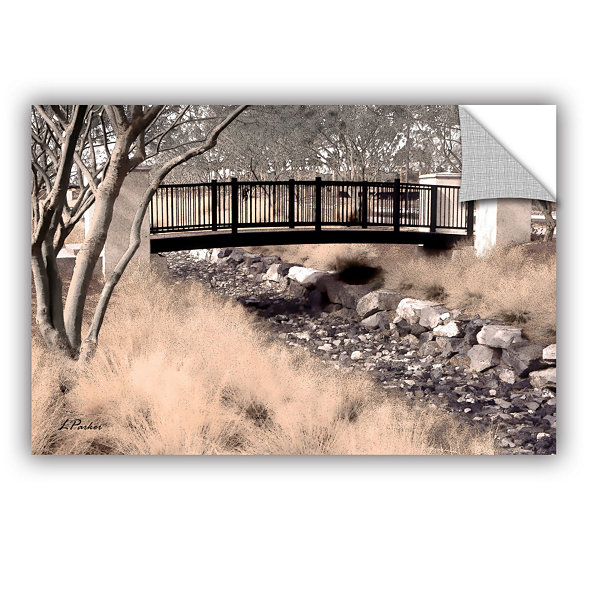 Brushstone Bridge Over Wash Removable Wall Decal