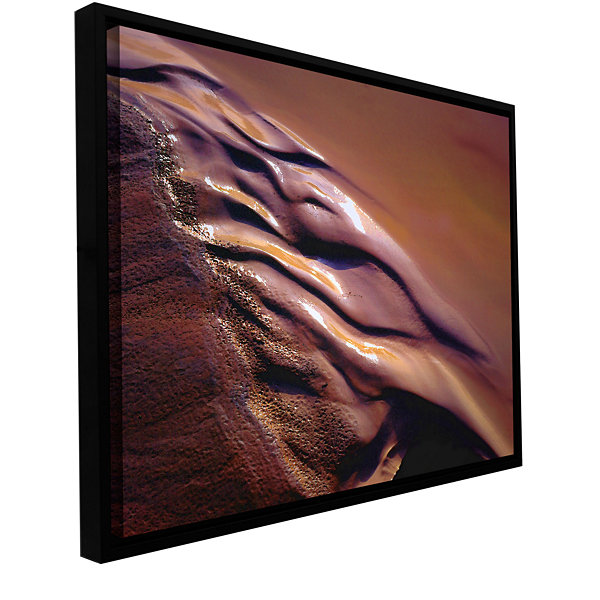 Brushstone Brief Desert Water Gallery Wrapped Floater-Framed Canvas Wall Art