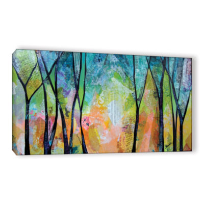 Brushstone Bright Skies For Dark Days I Gallery Wrapped Canvas Wall Art