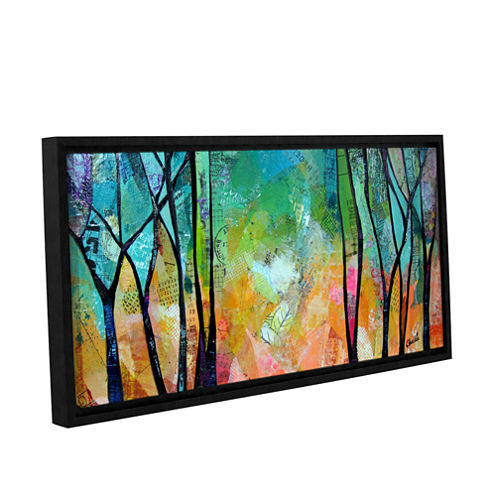 Bright Skies For Dark Days Ii Gallery Wrapped Floater-Framed Canvas Wall Art