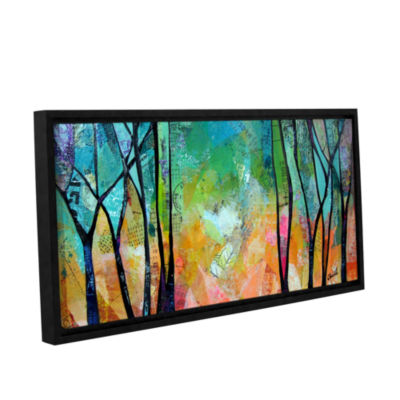 Brushstone Bright Skies For Dark Days Ii Gallery Wrapped Floater-Framed Canvas Wall Art