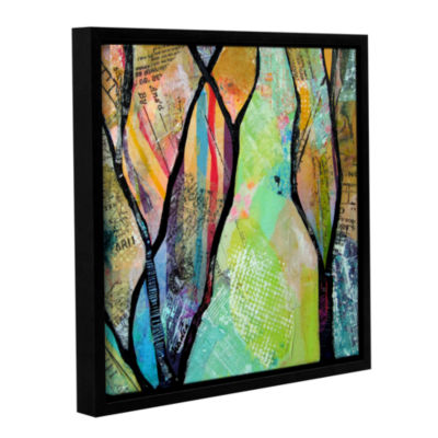 Bright Skies For Dark Days Iii Gallery Wrapped Floater-Framed Canvas Wall Art