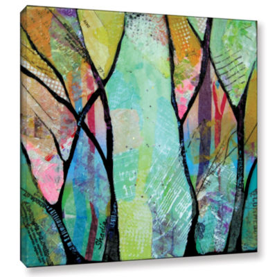 Brushstone Bright Skies For Dark Days Iv Gallery Wrapped Canvas Wall Art