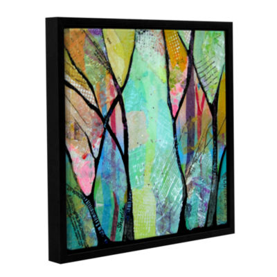 Brushstone Bright Skies For Dark Days Iv Gallery Wrapped Floater-Framed Canvas Wall Art