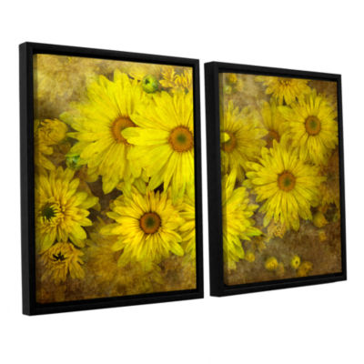 Bright Sunflowers 2-pc. Floater Framed Canvas WallArt
